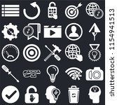set of 25 icons such as head ...
