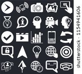set of 25 icons such as pie...