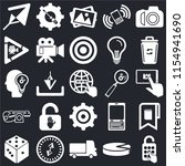 set of 25 icons such as padlock ...