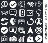 set of 25 icons such as right...