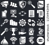 set of 25 icons such as vision  ...