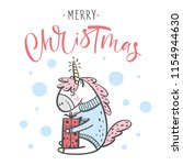 merry christmas greeting card... | Shutterstock .eps vector #1154944630