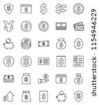 thin line vector icon set  ... | Shutterstock .eps vector #1154946229