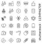 thin line vector icon set  ...   Shutterstock .eps vector #1154946709
