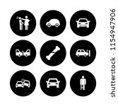 accident icon. 9 accident set...   Shutterstock .eps vector #1154947906