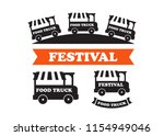food truck festival emblems and ... | Shutterstock .eps vector #1154949046
