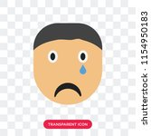 crying smile vector icon... | Shutterstock .eps vector #1154950183