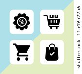 4 sale icons in vector set.... | Shutterstock .eps vector #1154952256