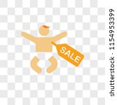 baby selling vector icon... | Shutterstock .eps vector #1154953399