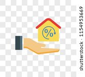 mortgage vector icon isolated... | Shutterstock .eps vector #1154953669
