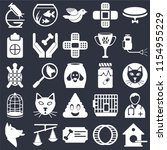 set of 25 icons such as... | Shutterstock .eps vector #1154955229