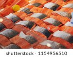 fresh fish on farmer market in... | Shutterstock . vector #1154956510