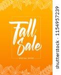 vector illustration  orange... | Shutterstock .eps vector #1154957239