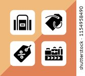 4 packaging icons in vector set.... | Shutterstock .eps vector #1154958490