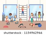 group of women training in the... | Shutterstock .eps vector #1154962966