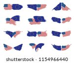 european union and american... | Shutterstock .eps vector #1154966440