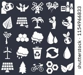 set of 25 icons such as leaves  ...
