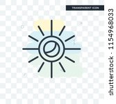 sun vector icon isolated on... | Shutterstock .eps vector #1154968033