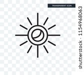sun vector icon isolated on... | Shutterstock .eps vector #1154968063