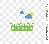 sunny vector icon isolated on... | Shutterstock .eps vector #1154970199