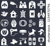 set of 25 icons such as... | Shutterstock .eps vector #1154970796