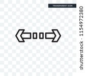 turn vector icon isolated on... | Shutterstock .eps vector #1154972380