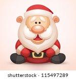 cute santa claus | Shutterstock .eps vector #115497289