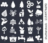 set of 25 icons such as bio...