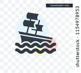 sailboat vector icon isolated... | Shutterstock .eps vector #1154978953