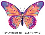 Stock vector butterfly 115497949