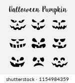 a set of scary halloween... | Shutterstock .eps vector #1154984359
