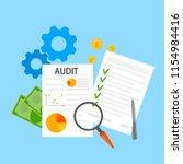 audit concept. business or... | Shutterstock .eps vector #1154984416