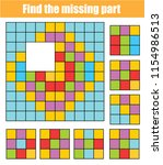 puzzle for toddlers. find the... | Shutterstock .eps vector #1154986513