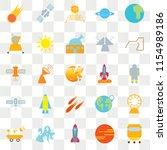 set of 25 transparent icons...