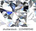 realistic diamond texture close ... | Shutterstock . vector #1154989540
