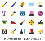 colored vector icon set  ... | Shutterstock .eps vector #1154990116