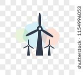 wind mills vector icon isolated ... | Shutterstock .eps vector #1154996053