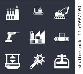set of 9 simple icons such as... | Shutterstock .eps vector #1154997190