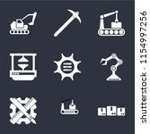set of 9 simple icons such as... | Shutterstock .eps vector #1154997256