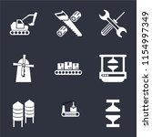 set of 9 simple icons such as... | Shutterstock .eps vector #1154997349