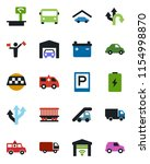 color and black flat icon set   ...   Shutterstock .eps vector #1154998870