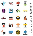 color and black flat icon set   ...   Shutterstock .eps vector #1154999116