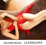 attractive glamour girl nude... | Shutterstock . vector #1155001993