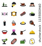 color and black flat icon set   ... | Shutterstock .eps vector #1155003460