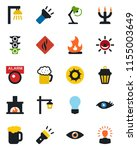 color and black flat icon set   ... | Shutterstock .eps vector #1155003649