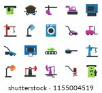 colored vector icon set  ... | Shutterstock .eps vector #1155004519