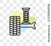 suspension vector icon isolated ... | Shutterstock .eps vector #1155004906