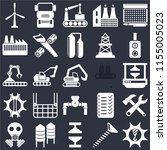 set of 25 icons such as... | Shutterstock .eps vector #1155005023