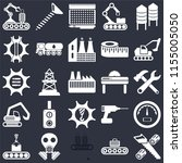 set of 25 icons such as wood...