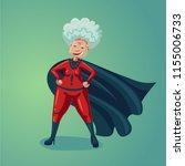 wonder old lady. senior adult... | Shutterstock .eps vector #1155006733